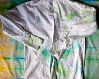 Green dyed  White Shirt