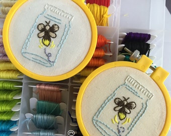 Lightning Bug Hand Embroidery