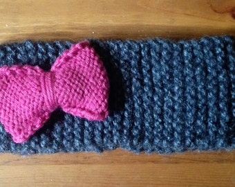 Knitted Headband with Optional Bow