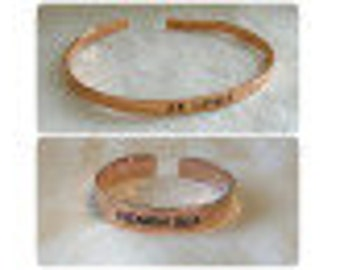 Beatiful Personalized Bangle for Her