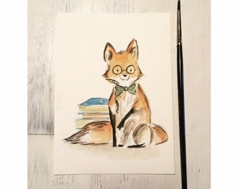 Animals in watercolour sheets for children