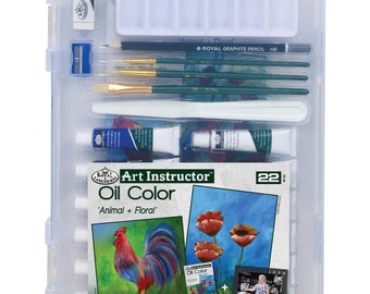 Art Instructor- Clearviwe Oil Paint Kit - 2 Projects, 22 Pc