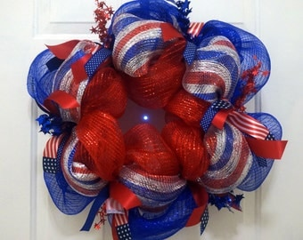 Patriotic Wreath, Support USA, 4th of July, Memorial Day, USA
