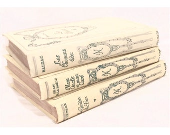 Antique French Nelson Pocketbooks. 1920s to 1930s. Decorative and Collectible Vintage French books. Set of 3