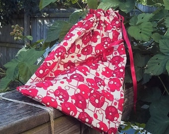 """FREE SHIPPING! Project Bag : """"Seeing Red"""""""