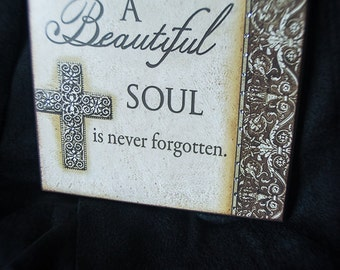 A beautiful Soul Plaque with sparkle bling Crystal Swarovski elements