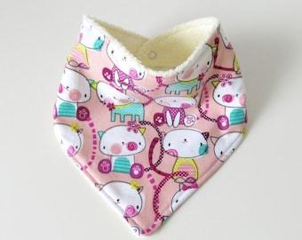 Bandana Bib – Pretty Kitty Pink