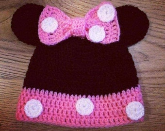 Mouse Newborn Baby Crochet Hat