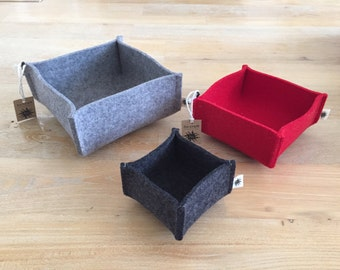 high-quality 100% German wool felt bowls (set of 3)