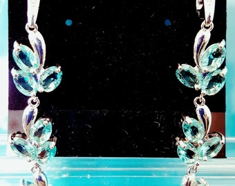 light blue topaz earrings