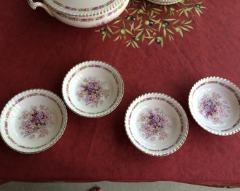 Johnson Brothers Queens Bouquet China, Four Fruit Bowls