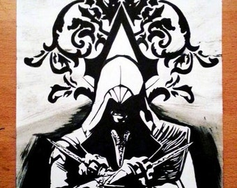 Ezio Auditore, Assassins Creed Inked Illustration.