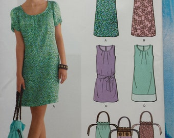 New Look 6022 Dress and Bag Sewing Pattern 6-16