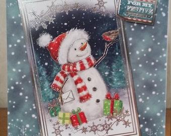 For my festive friend snowman christmas card