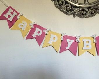 Pink and Yellow Summer Pink Lemonade Birthday Banner