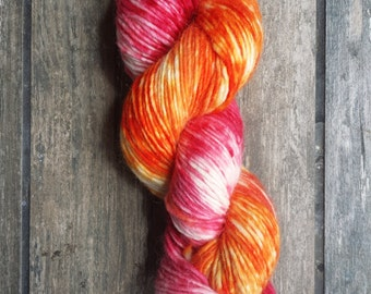 Hand dyed yarn - Tropical Punch