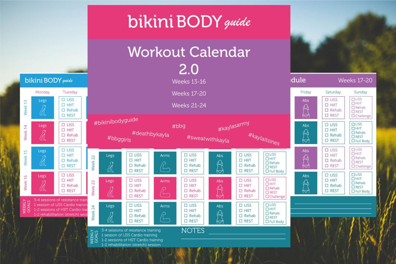 bikini body guide 2 workout calendar bbg. Black Bedroom Furniture Sets. Home Design Ideas