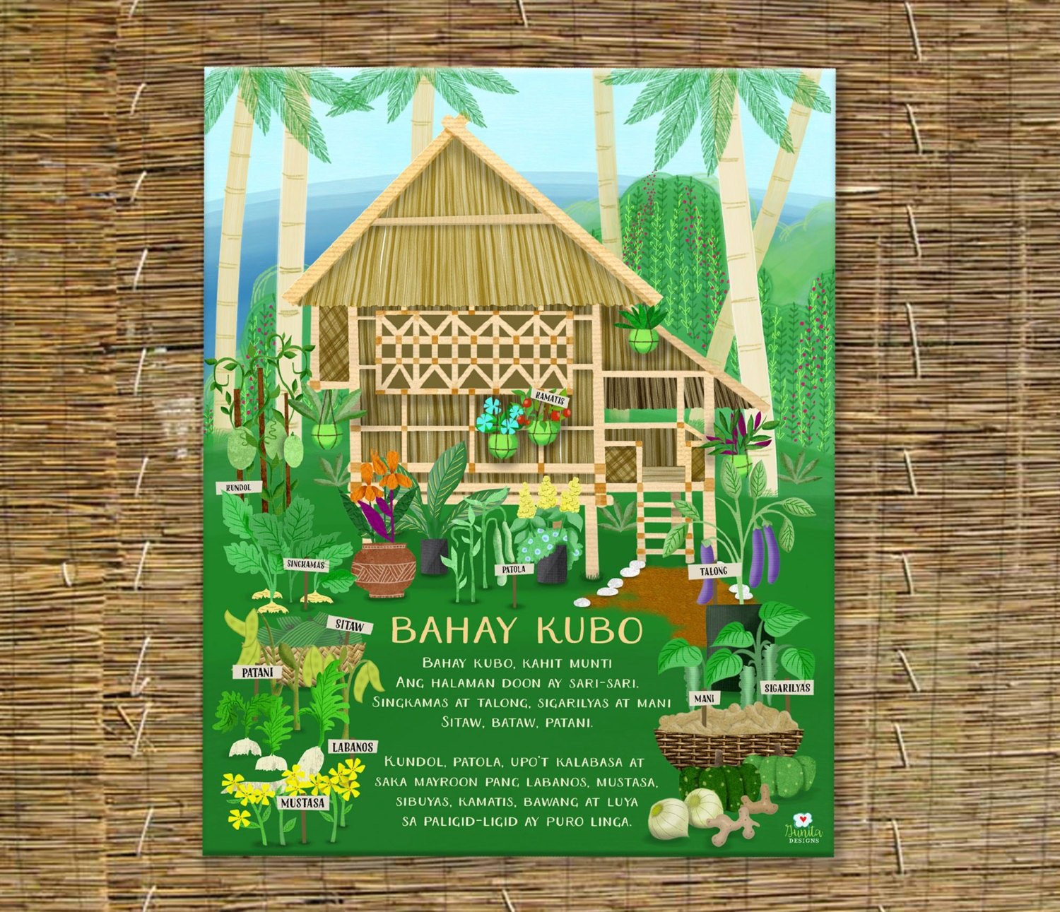 Bahay Kubo Children\'s Art Filipino Art Instant