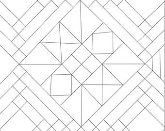 Boxed In Adult Coloring Page, Instant Download