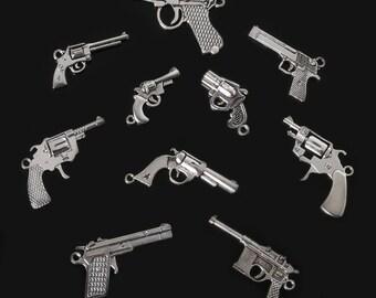 10 Pieces Gun Jewelry charms