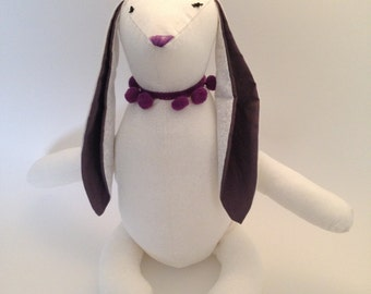 Plushie Bunny purple/white