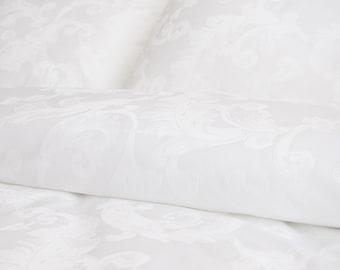 White linen duvet set bed linen pure linen sheets duvet cover cotton sateen bed sheets queen bed covers california king bedding SEAMLESS