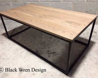 Contemporary Coffee Table - Retro Industrial Style