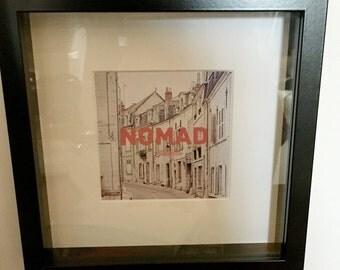 Nomad street scene - framed print