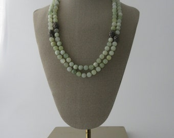 Green Jade Marble Necklace