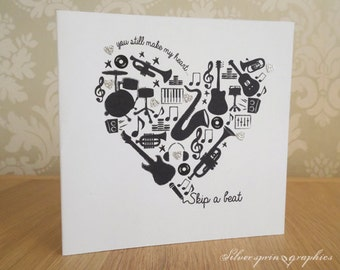 Music Themed Anniversary Card