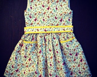 Baby cotton dress butterfly-Baby Princess Couture