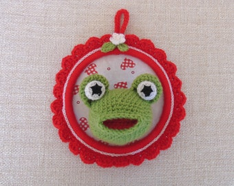 """""""My little Green Frog"""" trophy, decorative frame for child's room"""