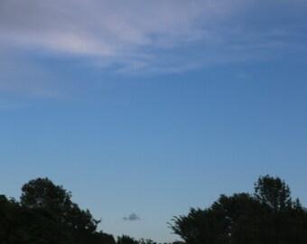Lonely Cloud, cloud photography, cloud photo, tree photography, black sheep, black cloud, home decor, photography print, blue sky, sky photo