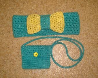 Crochet Turban and Shoulder Bag for little Fashion Mongers