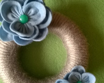 Beautiful hand crafted Flower and string wreath