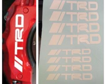 8 pc set TRD Brake Caliper Vinyl Sticker Decals Logo Graphics Emblem Toyota TRD