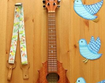 Lanimele Hawaiian ukulele strap_baby blue