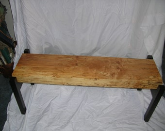 Spalted Maple Bench, Entryway Bench,