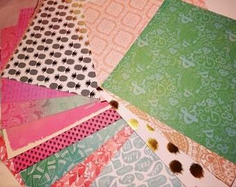 10 pack 12 x 12 scrapbook cardstock/paper