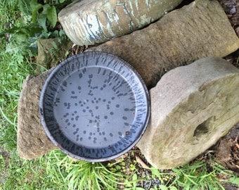 spatterware enamel pie plate
