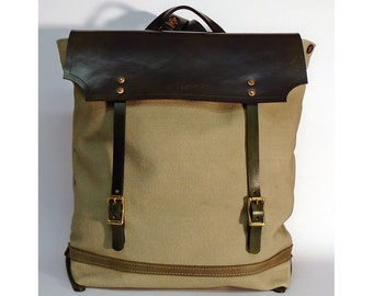 Hand Dyed Canvas Backpack, Rucksack, Explorer Bag, Travel Bag, Men