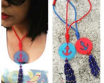 Anchor Cord Necklaces Multiples Color