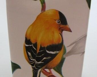 Passport Case Yellow Bird