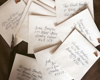 Handwritten Calligraphy Wedding Invitations Envelope Addressing