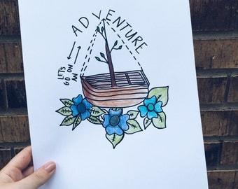 Adventure Print 8x11