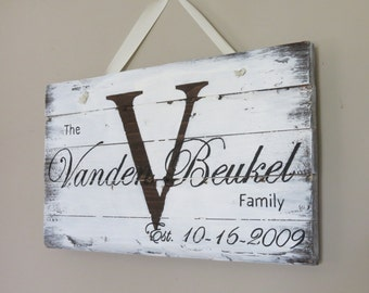 Rustic Home Decor, White, Wedding Gift, Wood Sign, Personalized, Rustic Sign, Anniversary Gift