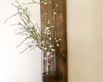Rustic Vase Wall Decor