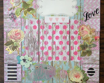 12x12 premade Mommy and Me Scrapbook layout