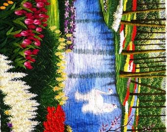 Wonderful Tulip Garden