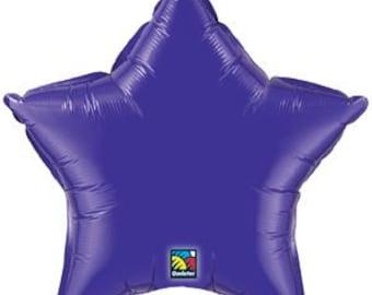 """Purple Balloon- 20"""" Star Balloon- Foil Balloon"""